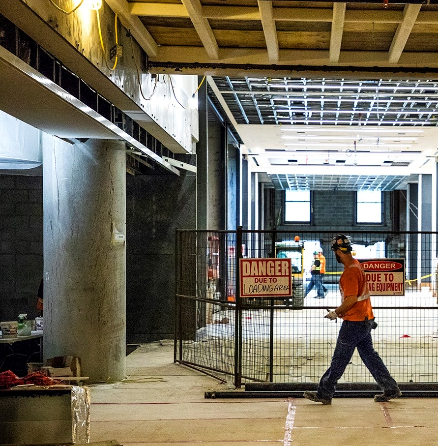 Behind the barriers of Union Station's new Bay Concourse